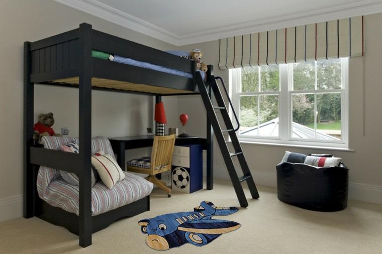 decoracion-dormitorio-infantiles-cama-negra